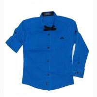 Рубашки для мальчиков с бабочкой, Турция, рост 110 - 128 см, цвета разные