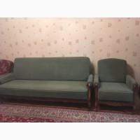 Диван и кресла зеленые Каштан