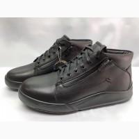 Кожаные зимние ботинки под кроссовки на молнии Bertoni