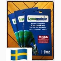 Сим Lycamobile Швеция Европа роуминг/прием смс/регистрация аккаунтов