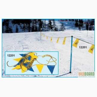 Флажки для обозначения горнолыжной трассы. Маркировка спусков.