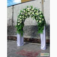 Свадебные букеты. Арки. Композиции на авто. Цветы в Харькове
