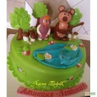 Праздничный торт Алиночке три годика