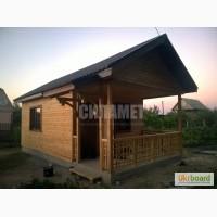 Дачный деревянный домик из дерева