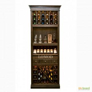 Элитный деревянный шкаф для вина Тироль