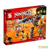 Конструктор Ninjago, робот, транспорт, фигурки, 465 дет, в кор SY591