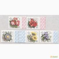 Почтовые марки СССР 1981. 5 марок Цветы Украинских Карпат