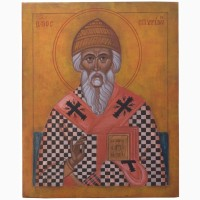 Продам рукописную православную икону «Святой Спиридон» (список с иконы XIV века)