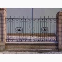 Кованый забор, забор с профлиста