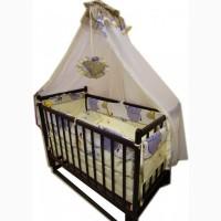 Акция! Комплект Ласка: кроватка маятник, матрас кокос, постель. Новый
