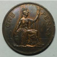 Великобритания 1 пенни 1938 год СОХРАН