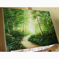 Картина маслом Літній пейзаж 50х70