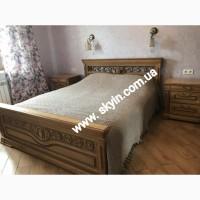 Дубовая кровать Эдельвейс с тумбами