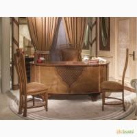 Классический кабинет ARTS Италия. Письменный стол 212x98x89 с кожей