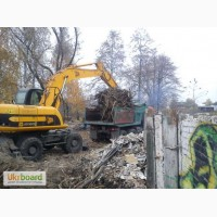 Демонтаж зданий. Снос строений, домов. Разрушение бетона