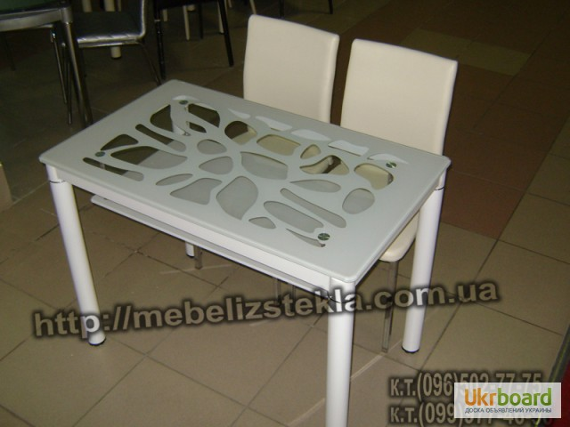 Фото 6. Столы и стулья. Теплота и свежесть от дизайна стеклянных столов