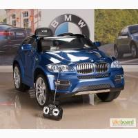 Электромобиль джип BMW X6, JJ258 с пультом и кожаным сиденьем