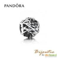 Оригинал PANDORA шарм загадочные цветы 791409CZ серебро 925