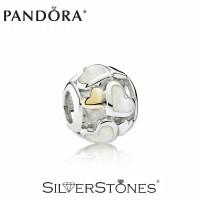 Скидки! Оригинал Pandora Пандора шарм бусина Светящиеся сердца арт. 791879MOP
