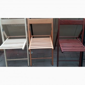 Стулья раскладные деревянные, цвета разные- S688