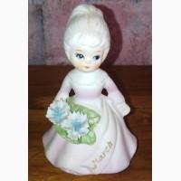 Статуэтка Девочка с букетом, керамика, Англия