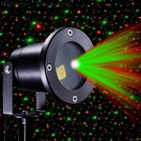 Водонепроницаемый лазерный проектор Звездный дождь с пультом (лазерная подсветка дома)
