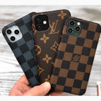 Чехол кожаный Louis Vuitton для iPhone X / Xs / 10 Форм-фактор – накладка