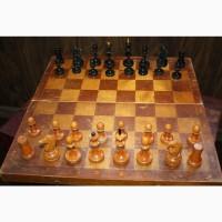 Шахматы дерево старые 40х40