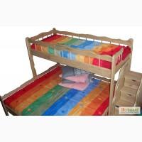 Двухъярусная трехместная кровать из массива ясеня или дуба Ковчег