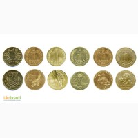 Монета 1 гривна Украина - набор из 6-ти монет