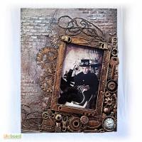 Фоторамка в стиле steunk, рамка для фото 10 15 ручная работа, подарок мужчине