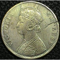 Британская Индия 1 рупия 1892 год СЕРЕБРО!!! НЕ ЧАСТАЯ