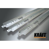 Профиль KRAFT Fortis Т-24 (0, 6) 25*24мм RAL9003