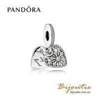 PANDORA шарм-подвеска сердце зимы ― 796372CZ