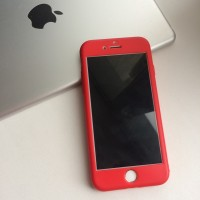 Чехол силиконовый 360 + стекло на iPhone 7