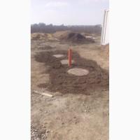 Монтаж Переливного Септика с Дренажом из бетонных колец Выгребная яма