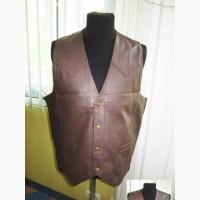 Оригинальная мужская кожаная жилетка MAN#039;S WORLD. Лот 134