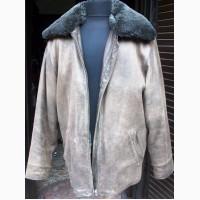 Куртка мужская кожаная стиль бомбер