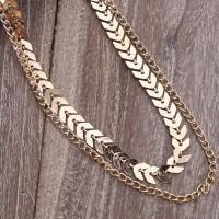 Женское двухслойное ожерелье на шею (цепочка)