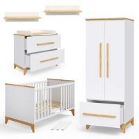 Детская деревянная мебель Милан белая/натур