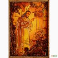 Иконы из янтаря (цена указана для размера 15х20 рамка декоративная)