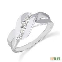 Золотое кольцо с бриллиантами 0,20 карат 17 мм. НОВОЕ (Код: 18517)