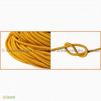 Текстильный провод желтого цвета