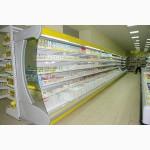 Холодильные горки Индиана.Гастрономические пристенные регалы/витрины