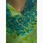 Воздушное ожерелье цвета морской волны