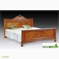 Элитная резная мебель из массива дерева, Кровать Элит