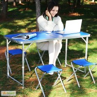 Комплект мебели для пикника WELFULL-FTS1-4, стол +4 стульчика