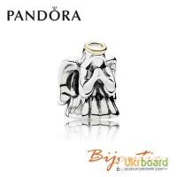 Шарм серебряно-золотой PANDORA чудесный ангел бусина 791770