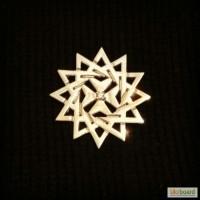 Значок- брошь серебряная - звезда Эрцгаммы.Повышает имидж.Приносит удачу.Д-р-2, 5см
