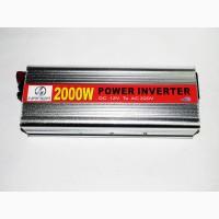 Преобразователь (инвертор) 12V-220V 2000W silver